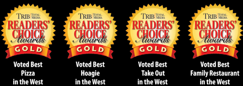 Voted BEST Pizza, Hoagie, Take Out and Family Restaurant in the West!